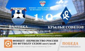 rezultat-baltika-krilya-sovetov-32-tur-2017-sportkaliningrad